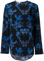 Stella McCartney curved floral print blouse - women - Silk - 44