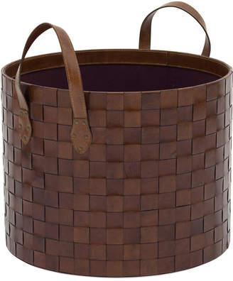 Mitchell Gold + Bob Williams Leather Storage Basket