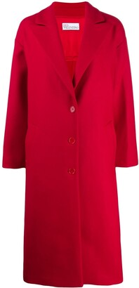 RED Valentino long single-breasted coat