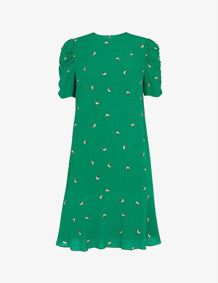 Whistles Georgina floral-print crepe dress