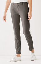 J. Jill Brushed-Twill Slim Ankle Pants