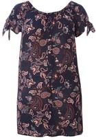 Evans Plus Size Women's Paisley Floral Tunic