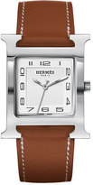 Hermes Heure H Watch on a Natural Barenia Strap