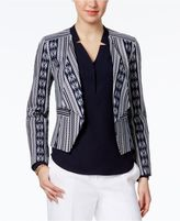 Nine West Printed Wing-Collar Blazer