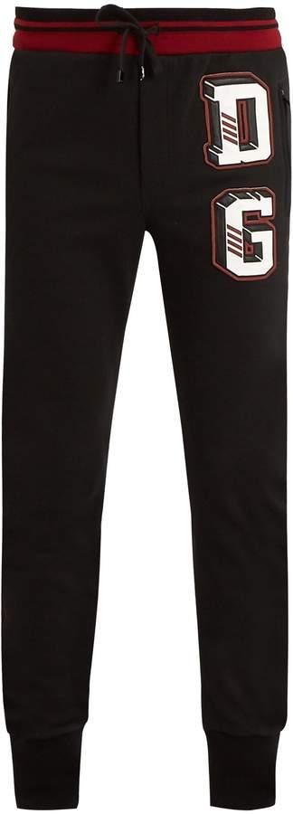 Dolce & Gabbana appliqué cotton-blend track pants