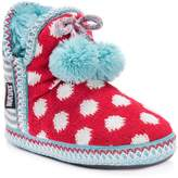 Muk Luks Amira Printed Knit Pompom Slipper