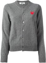 Comme des Garcons embroidered heart cardigan - women - Wool - XS