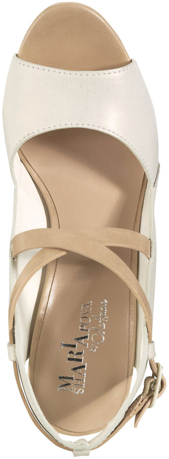 Cole Haan Arlington Open-Toe Wedge Sandal, Ivory Metallic