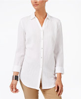 JM Collection Crinkled Shirt, Created for Macy's