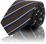 Kiton Men's Striped Textured Silk-Cotton Necktie