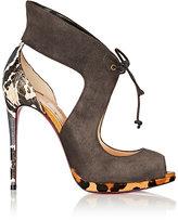 Christian Louboutin Women's Campanina Suede & Snakeskin Platform Sandals