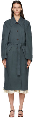 Low Classic Blue Curve Sleeve Trench Coat