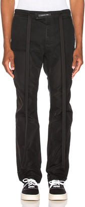 Fear Of God Nylon Double Front Work Pant in Black | FWRD