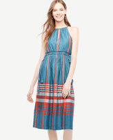 Ann Taylor Plaid Halter Dress