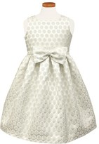 Sorbet Girl's Dot Metallic Brocade Dress