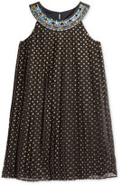 Blush by Us Angels Blush Dot-Print Trapeze Party Dress, Big Girls (7-16)