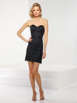 Social Occasions by Mon Cheri - 116834 Short Dress In Black