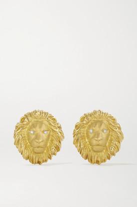 Kimberly King 18-karat Green Gold Diamond Clip Earrings - one size