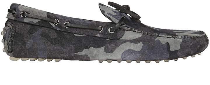 Car Shoe Camo Laced Driving Shoes