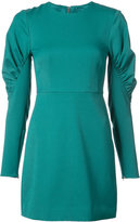 Tibi ruched panel sleeves fitted dress