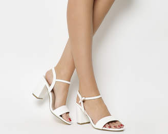 Office Modesty Two Part Block Heels White