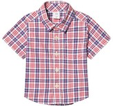 Gap Red and Blue Plaid Short Sleeve Shirt