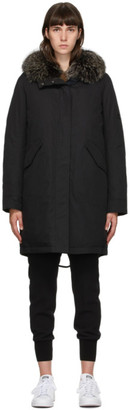Army by Yves Salomon Yves Salomon - Army Black Down Bachette Coat