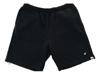 A Bathing Ape Black Cotton Shorts