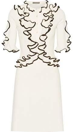Alexander McQueen Ruffled Wool Dress