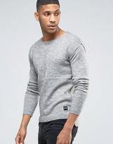 ONLY & SONS Sweater With Raw Hem and Dropped Back Seam
