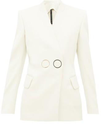 Petar Petrov Jestine Collarless Double-breasted Wool Jacket - Womens - Ivory