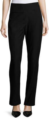 Eileen Fisher Stretch Crepe Boot-Cut Pants, Black