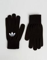 adidas Trefoil Logo Gloves In Black AY9338