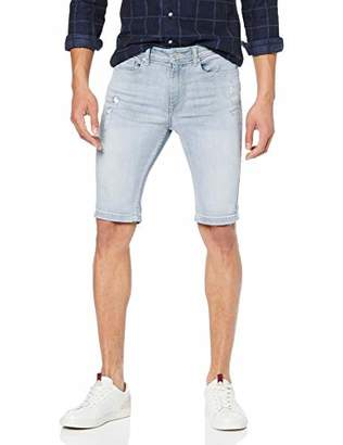 Burton Menswear London Men's Bleach Denim Short Blue 115, (Size:38R)