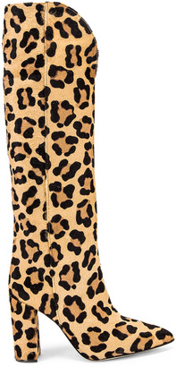 Paris Texas Pony High Boot in Leopard | FWRD