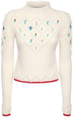 Philosophy di Lorenzo Serafini Embroidered Wool Knit Sweater