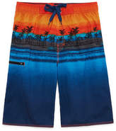 Burnside Island Print Swim Trunks-Boys 8-20