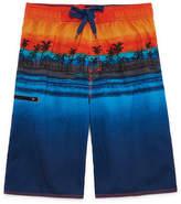 Burnside Island Print Swim Trunks-Boys 8-20