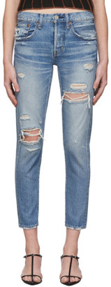 Moussy Vintage Blue Bowie Tapered Jeans