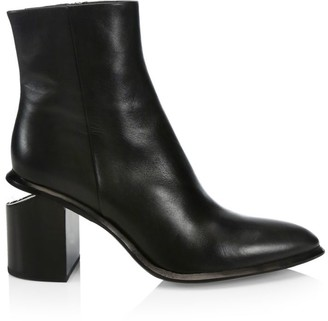 Alexander Wang Anna Rhodium & Leather Ankle Boots