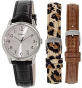 Timex Women's UG0102 Black Leather Quartz Watch