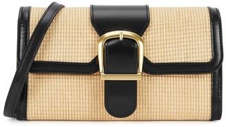 Rylan 2.16 Small Leather And Raffia Cross-Body Bag