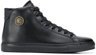 Roberto Cavalli High-Top Leather Sneakers