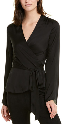 BCBGMAXAZRIA Pleated Wrap Top