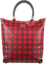 Viktor & Rolf Leather Gingham Tote