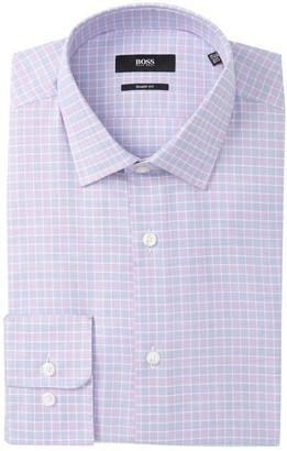 BOSS Marley Check Sharp Fit Dress Shirt