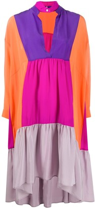 Jejia Colour-Block Tunic Dress