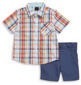 Nautica Plaid Shirt and Shorts Set