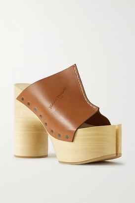 Maison Margiela Leather Platform Mules - Tan