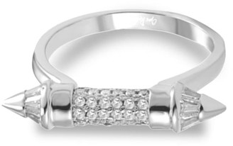 Opes Robur White Gold Pointed Ring